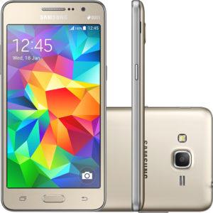 Smartphone Samsung Galaxy Gran Prime Duos Dual Chip Android Tela 5 Memória Interna 8GB 3G Câmera 8MP - Dourado